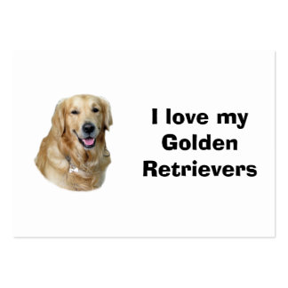 Golden Retriever dog photo portrait Large Business Cards (Pack Of 100)