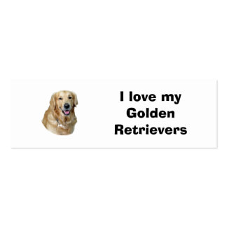 Golden Retriever dog photo portrait Double-Sided Mini Business Cards (Pack Of 20)