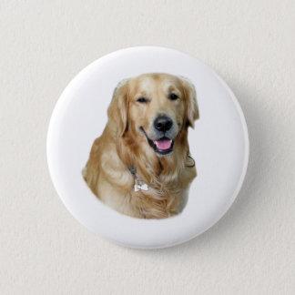 Golden Retriever dog photo portrait Button