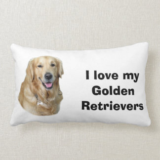Golden Retriever dog photo portrait Lumbar Pillow