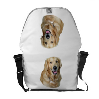Golden Retriever dog photo portrait Messenger Bag