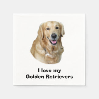 Golden Retriever dog photo portrait Napkin