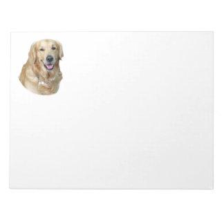 Golden Retriever dog photo portrait Note Pads