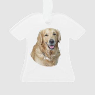 Golden Retriever dog photo portrait Ornament