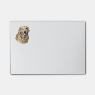 Golden Retriever dog photo portrait Post-it Notes
