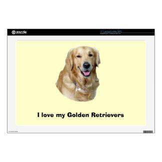 Golden Retriever dog photo portrait Laptop Decal
