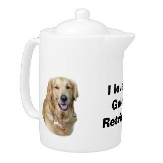 Golden Retriever dog photo portrait Teapot