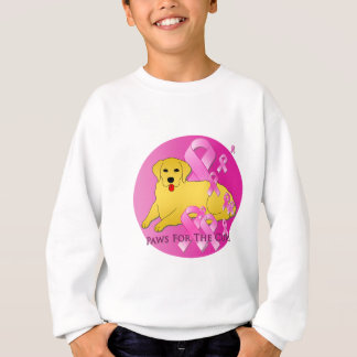 Golden Retriever Dog Pink Ribbon Sweatshirt
