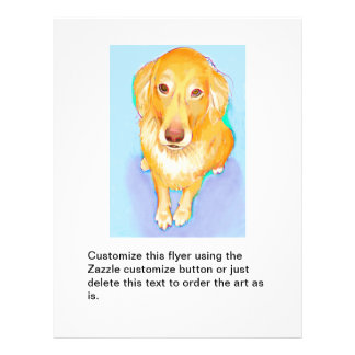 Golden retriever dog portrait cute pet fun artwork custom flyer