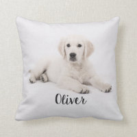 Golden Retriever Dog Puppy Pillow Custom Name