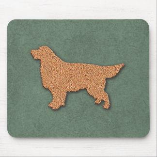 Golden Retriever Dog Silhouette Mouse Pad