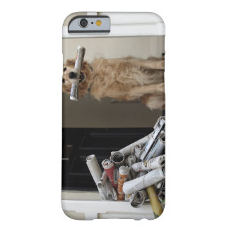 Golden retriever dog sitting at front door barely there iPhone 6 case