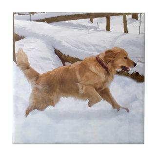 Golden Retriever Dog Tile