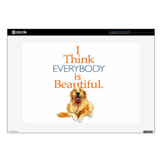 Golden Retriever dog watercolor everyone beautiful Decal For Laptop