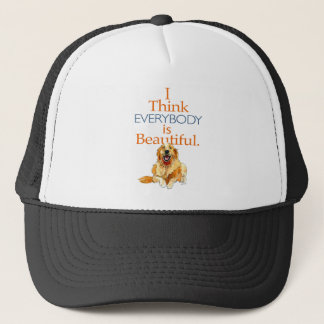 Golden Retriever dog watercolor everyone beautiful Trucker Hat