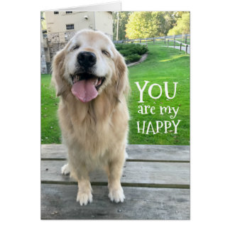 Golden Retriever Dog You Are My Happy Card