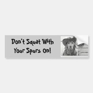 Golden Retriever Don't Squat Bumper Sticker