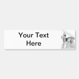 Golden Retriever Drawing Bumper Sticker