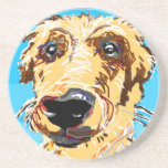 Golden Retriever Drawing Coasters