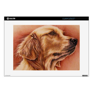 "Golden Retriever Drawing on Laptop For Mac & PC 15"" Laptop Skin"