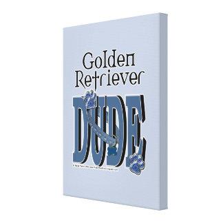 Golden Retriever DUDE Canvas Print