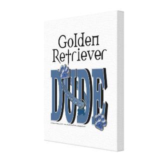 Golden Retriever DUDE Stretched Canvas Prints