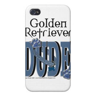 Golden Retriever DUDE iPhone 4 Covers