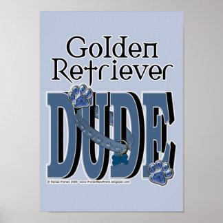 Golden Retriever DUDE Print