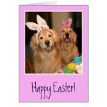 Golden Retriever Easter Bunny Greeting Card