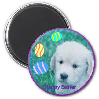 Golden Retriever Easter Puppy Cards & Gifts 2 Inch Round Magnet