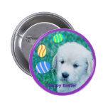Golden Retriever Easter Puppy Cards & Gifts 2 Inch Round Button