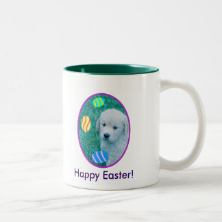 Golden Retriever Easter Puppy Cards & Gifts Two-Tone Coffee Mug