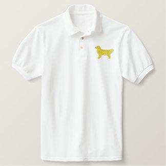 Golden Retriever Embroidered Polo Shirt