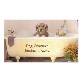 Golden retriever en tarjeta de visita del Groomer