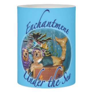 Golden Retriever Enchantment Under the Sea Flameless Candle