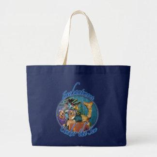 Golden Retriever Enchantment Under the Sea Large Tote Bag