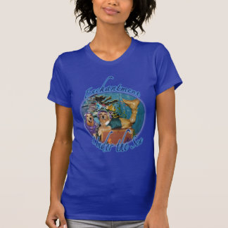 Golden Retriever Enchantment Under the Sea T-shirt