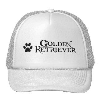 Golden retriever (estilo del pirata con el pawprin gorras