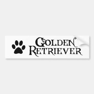 Golden retriever (estilo del pirata con el pegatina para auto