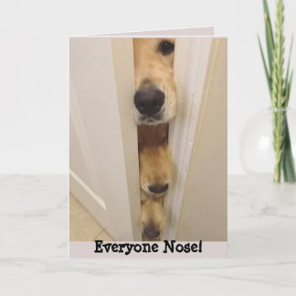 Golden Retriever Everyone Nose Birthday Card