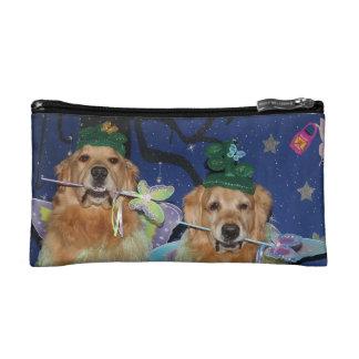 Golden Retriever Fairies Cosmetic Bags
