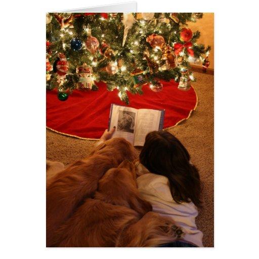 Golden Retriever Family Christmas Card
