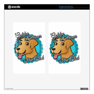 Golden Retriever Fan Club Decals For Kindle Fire