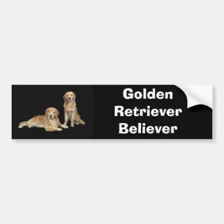 Golden Retriever Father & Son Bumper Sticker