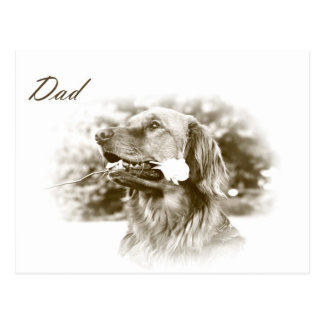 Golden Retriever Father's Day gift postcard
