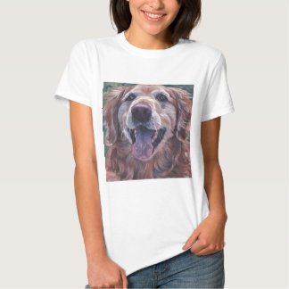 Golden Retriever fine art dog painting Shirt