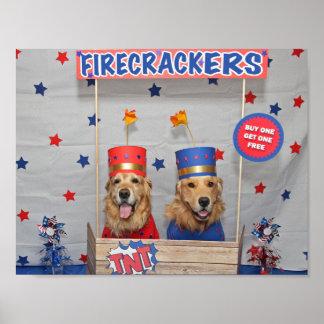Golden Retriever Firecrackers For Sale Poster
