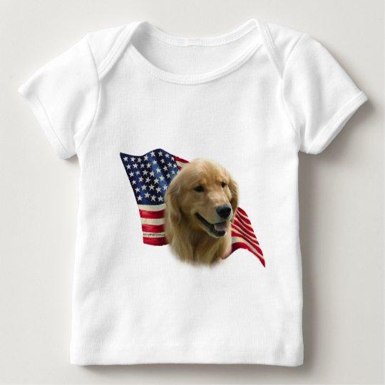 Golden Retriever Flag Baby T-Shirt