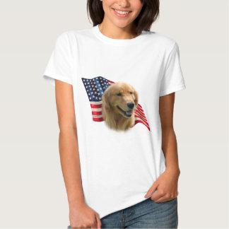 Golden Retriever Flag Tee Shirts