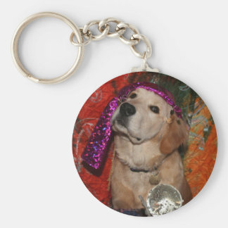 Golden Retriever Fortune Teller Keychain